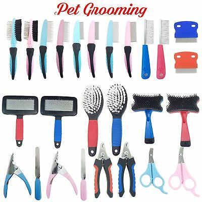 Dog , Cat Grooming Range - Brush Comb Scissors Rake Nail File Clippers Slicker
