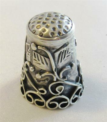 Elaborate Antique Sterling Silver Sewing Thimble Hallmarked