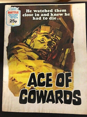 BATTLE PICTURE LIBRARY, No 1579, ACE OF COWARDS, 1983