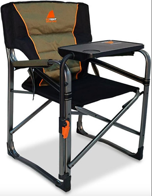 Oztent Gecko Directors Camping Chair w/table  - Outdoor Portable Folding Seat