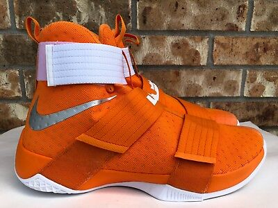 lowest price 94ecb f54aa Men s Nike Lebron LBJ Soldier 10 TB Orange Basketball Shoes Size 15.5 856489  881