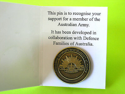 The Australian Army Defence Families of Australia Support Badge ~ BrandNet-New