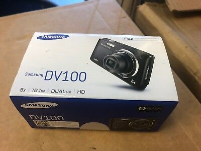 NEW Samsung DualView DV100 DV101 16.1MP Digital Selfie Camera 16.1mp- Black