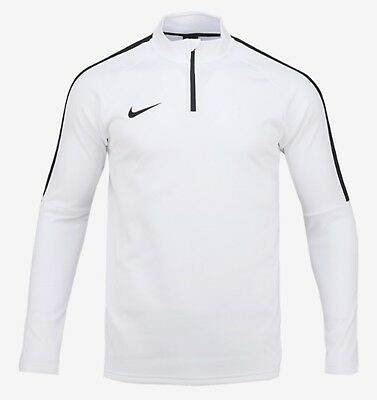 Nike Youth Dri-Fit Academy Drill L/S Tee Soccer White Kid Boy Shirts 839358-100