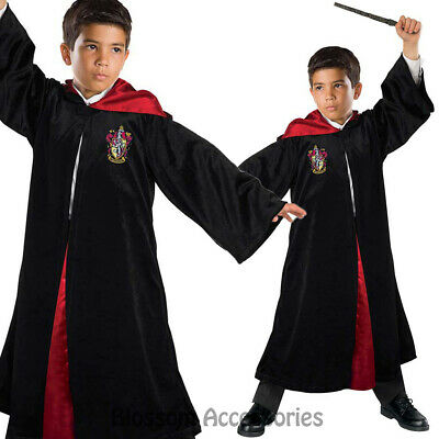 CK814 Deluxe Harry Potter Child Kids Costume Cosplay Robe Cloak Wand Book Week