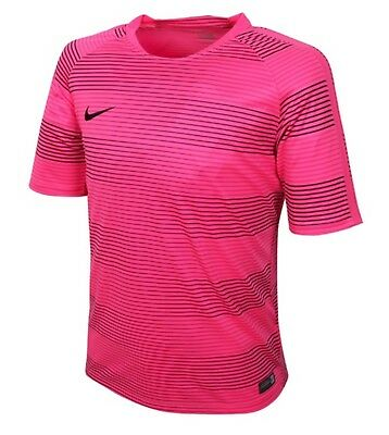 Nike Youth Flash GPX S/S Top Soccer Pink Black Kid Boy GYM Tee Shirts 725924-639