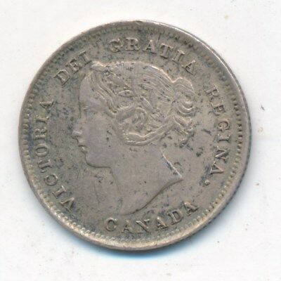 1899 Canada Silver Five Cent Piece-Stunning Detail And Color! Ships Free! Inv:1