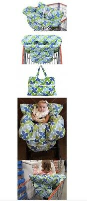 Kiddlets Baby Shopping Cart and High Chair Cover, Includes Carry Bag, Machine T8