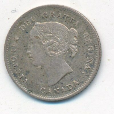 1901 Canada Silver Five Cent Piece-Stunning Detail And Color! Ships Free!