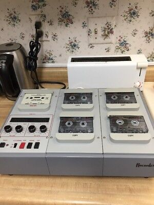 Recordex Soundmaster Iv 16 X High Speed 1 To 4 Stereo Cassette Tape Duplicator