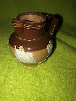"""Very Rare 3"""" Royal Doulton Creamer Pitcher Red Ware Stoneware Pitcher Nice!!!"""
