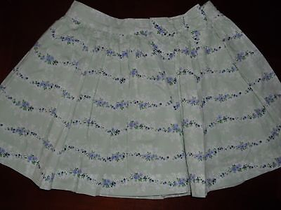 Janie and Jack Violet Meadow green lavender floral flower skirt size 4t 4 EUC
