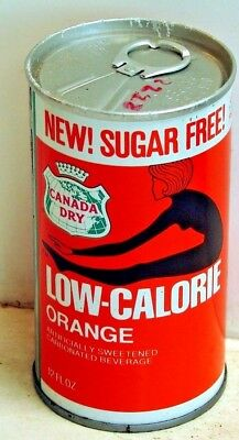 Canada Dry Low Calorie Orange; Canada Dry Corp.; Maywood, IL; steel soda Pop Can
