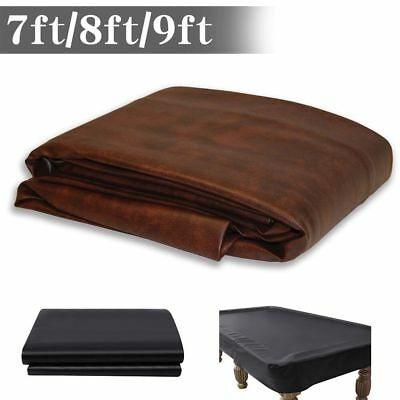 7/8/9 ft Foot Heavy Duty Fitted Leatherette Billiard Pool Table Cover Waterproof