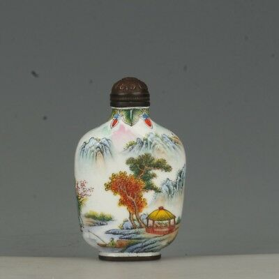 Chinese Exquisite Handmade character pattern Cloisonne snuff bottle