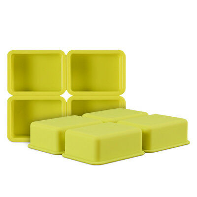 4-Cavity Rectangle Soap Mold Cake ice Silicone Mould Tray for Homemade DIY