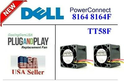 2x New replacement fans for TT58F Dell Networking 8164 8164F Fan Assembly