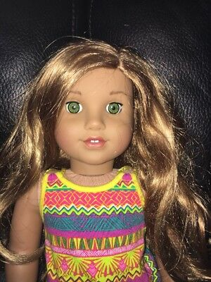 American Girl Doll with Red Hair & Green Eyes