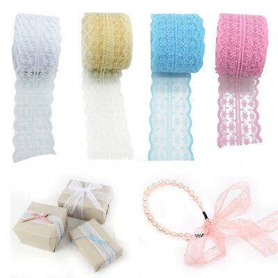 10M/Roll 45mm Lace Roll Fabric Ribbon Netting Wedding Decor Tulle Spool NEW