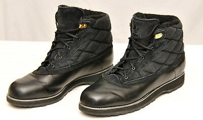 ADIDAS~MEN'S ADI NAVVY Quilt Black Fur Lined Winter Boots~Size 13