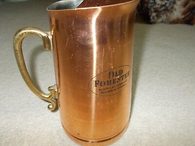 Old Forester Kentucky Straight Bourbon Whisky Copper Pitcher
