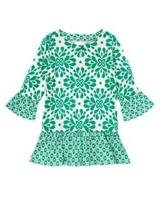 NWT Gymboree Clover Ruffle Tunic Blouse Top The Green Scene Girls 4 5