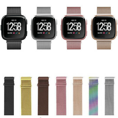 NEW COLOR For Fitbit Versa Milanese loop Stainless Steel Watch Strap Band