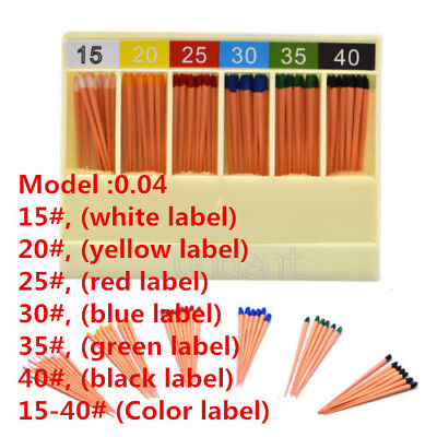 1XDental GAPADENT Gutta Percha Points 0.04 15-40# 120 Points Color Coded FDA CE