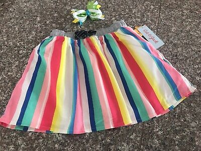 Cat & Jack Girl's Size 4T Striped Skirt New With Tag Adorable !