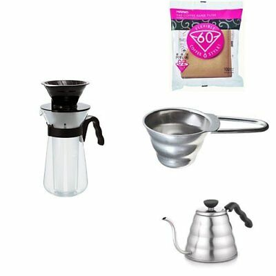NEW HARIO V60 coffee maker + paper filter 100 sheets + spoon + kettle set # # Si