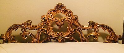Ornate Vintage Gold Headboard Rococo King Size Rare - Good Vintage Condition
