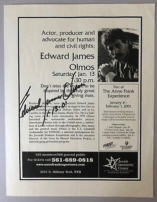 EDWARD JAMES OLMOS in-person signed image/article