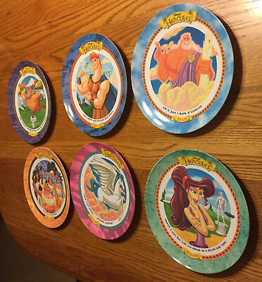 Vintage McDonald's Disney HERCULES Collector Plates 1997 COMPLETE SET of 6