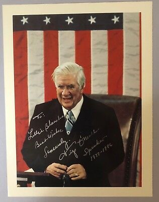 Speaker of the House TIP O'NEILL signed 8x10 photo