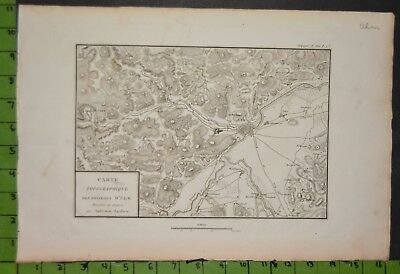 Antique Ulm Germany Map 1800 11x16 Inches