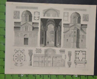 Antique Medieval Architecture 1849 Bilder Atlas Engraving -  12x9