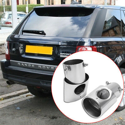 2X Stainless Steel Car Rear Exhaust Pipe Tail Muffler Tip for Range Rover Vogue