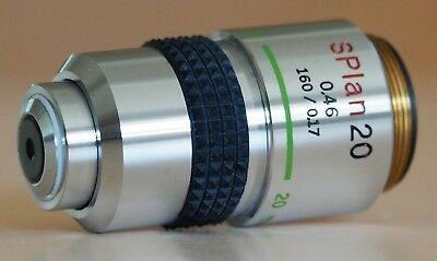 Olympus SPlan 20 Microscope Objective Lens for BH2, BH, CH2, CH and Vanox