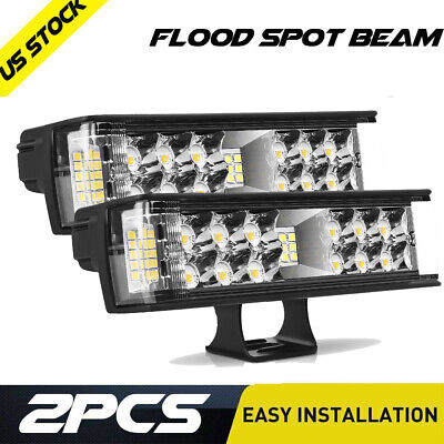 12inch 1344W LED Work Light Bar Spot Flood Combo Beam Offroad Fog Driving Lights