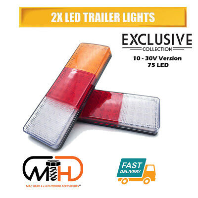 2X Led Trailer Lights Tail Lamp Stop Indicator 4Wd 4X4 Boat Submersible 10-30V