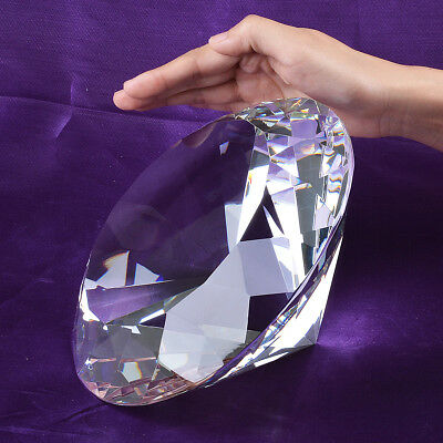 LONGWIN 200mm Huge Clear Crystal Diamond Paperweight Wedding Centerpieces Gifts
