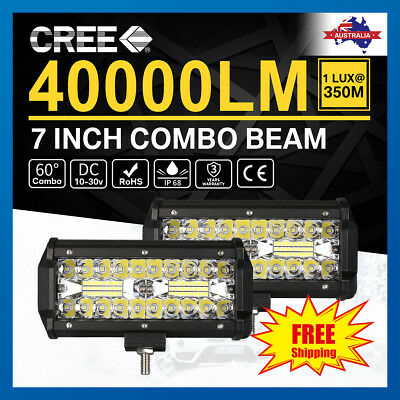 7inch CREE LED Work Light Bar Spot Flood OffRoad Fog Driving 4WD 4x4 Reverse