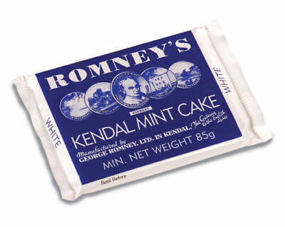 Romney's Kendal Mint Cake White 85g High Energy Food - Bush Craft - Expeditions