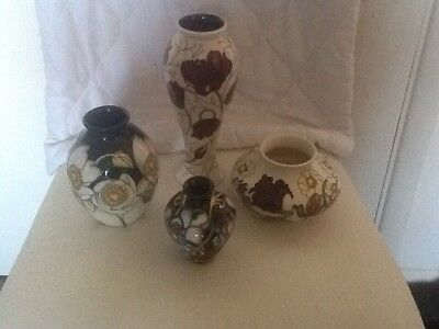 Moorcroft Selection Four Fine Pieces In Quality Condition