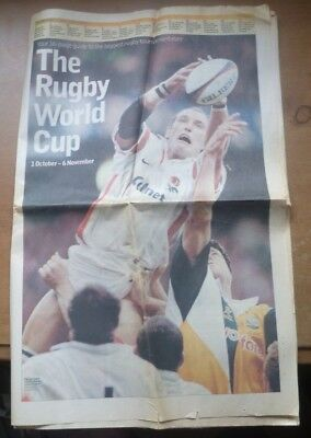 Rugby World Cup 1999 Preview Newspaper Guide (The Observer).