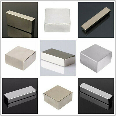 N52 Large Super Strong Block Cuboid Magnets Rare Earth Neodymium 40mmx20mmx10mm