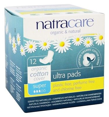 Natracare - Cotton Natural Feminine Ultra Pads Super with Wings - 12 Pad(s)