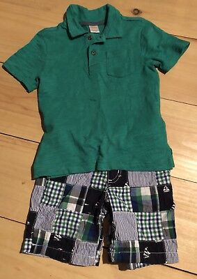Gymboree Boys Plaid Short/shirt Outfit Size 5