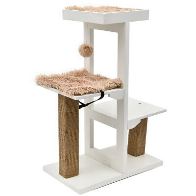 93CM Pet Cat Tree Sisal Scratching Post Condo Furniture Activity Gym Summer Toy