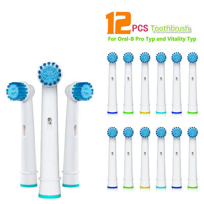 12 PCS Toothbrush Heads Replacement for Oral-B Electric Tooth Brush Vitality 02